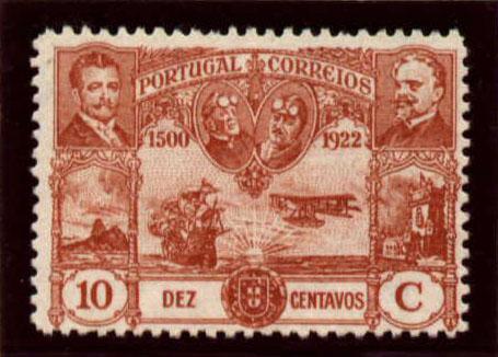 Portugal 1923 First flight Lisbon Brazil f.jpg