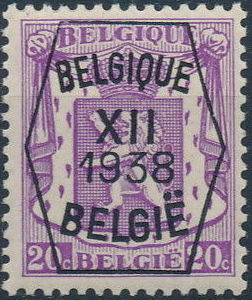 Belgium 1938 Coat of Arms - Precancel (12th Group) b.jpg