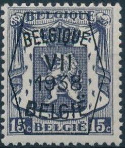 Belgium 1938 Coat of Arms - Precancel (7th Group)