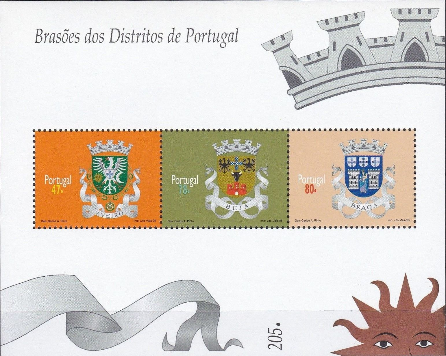 Portugal 1996 Arms of the Districts of Portugal (1st Group) SSa.jpg