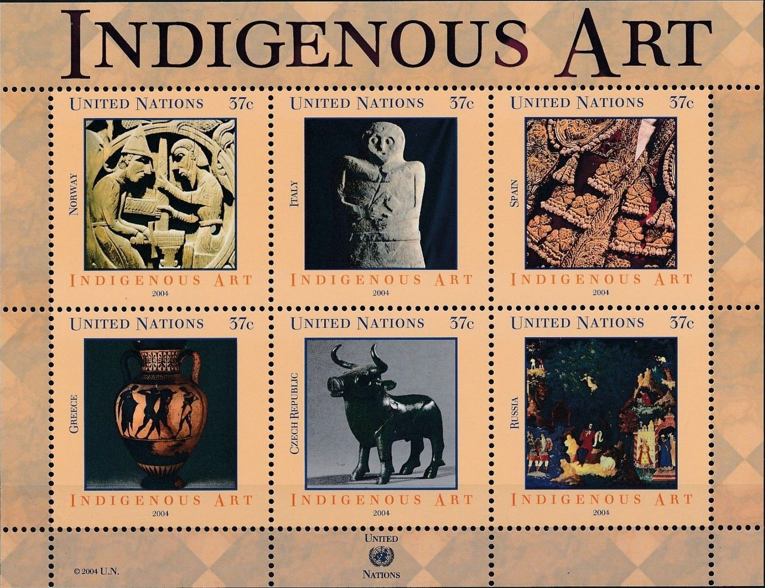 United Nations-New York 2004 Indigenous Art