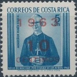 Costa Rica 1963 Christmas - Regular Stamps d.jpg