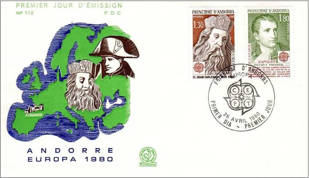 Andorra-French 1980 Europa FDCa.jpg