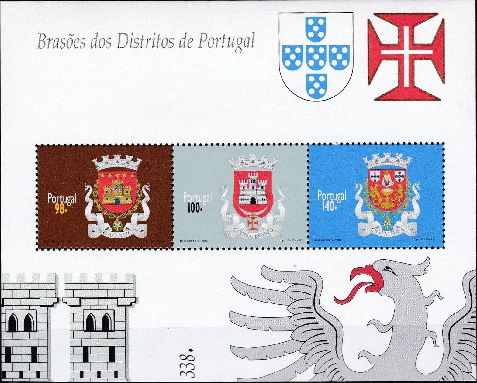 Portugal 1996 Arms of the Districts of Portugal (1st Group) SSb.jpg