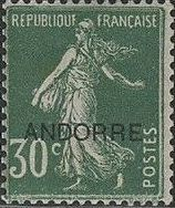 "Andorra-French 1931 Type ""Semeuse"" of France Overprinted ""ANDORRE"" d.jpg"