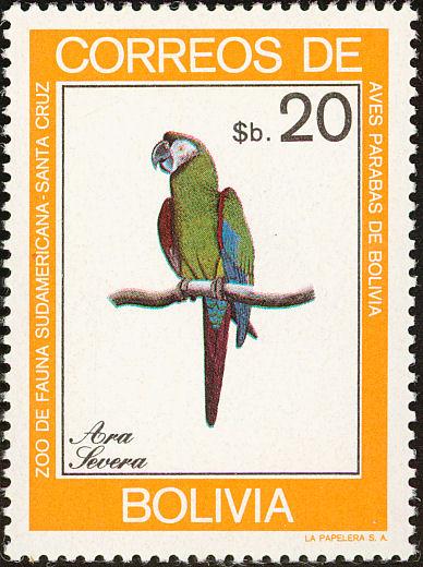 Bolivia 1981 Macaws h.jpg