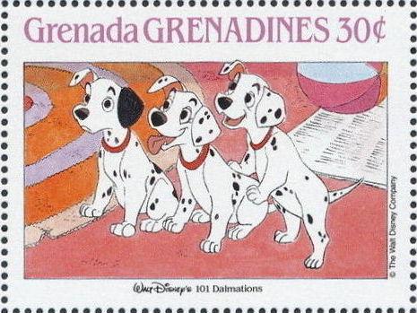 Grenada Grenadines 1988 The Disney Animal Stories in Postage Stamps 3c.jpg