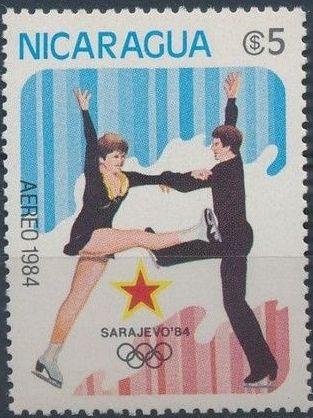 Nicaragua 1984 Winter Olympics - Sarajevo' 84 (Air Post Stamps) b.jpg
