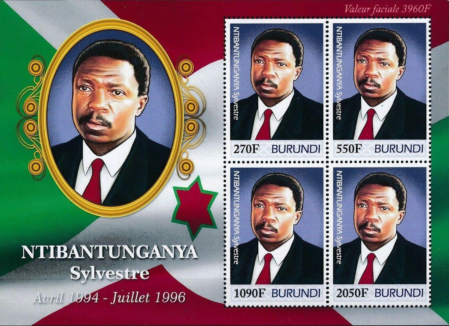 Burundi 2012 Presidents of Burundi - Sylvestre Ntibantunganya g.jpg