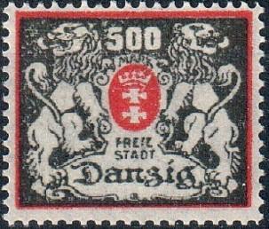 Danzig 1923 Coat of Arms of Danzig and Lions b.jpg