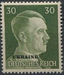 German Occupation-Ukraine 1941 Stamps of German Reich Overprinted in Black n.jpg