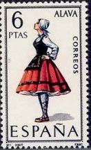 Spain 1967 Regional Costumes Issue