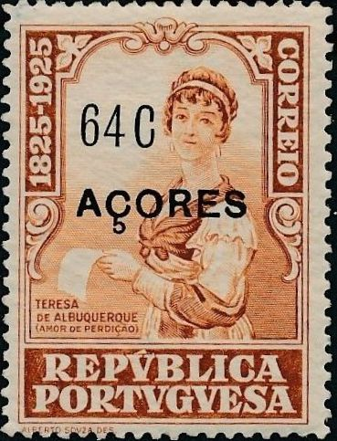 Azores 1925 Birth Centenary of Camilo Castelo Branco p.jpg