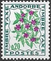 Andorra-French 1971 Flowers - 3rd Group (Postage Due Stamps)