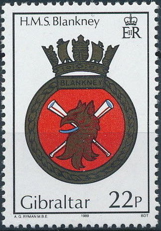 Gibraltar 1989 Royal Navy Crests 8th Group