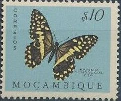 Mozambique 1953 Butterflies and Moths