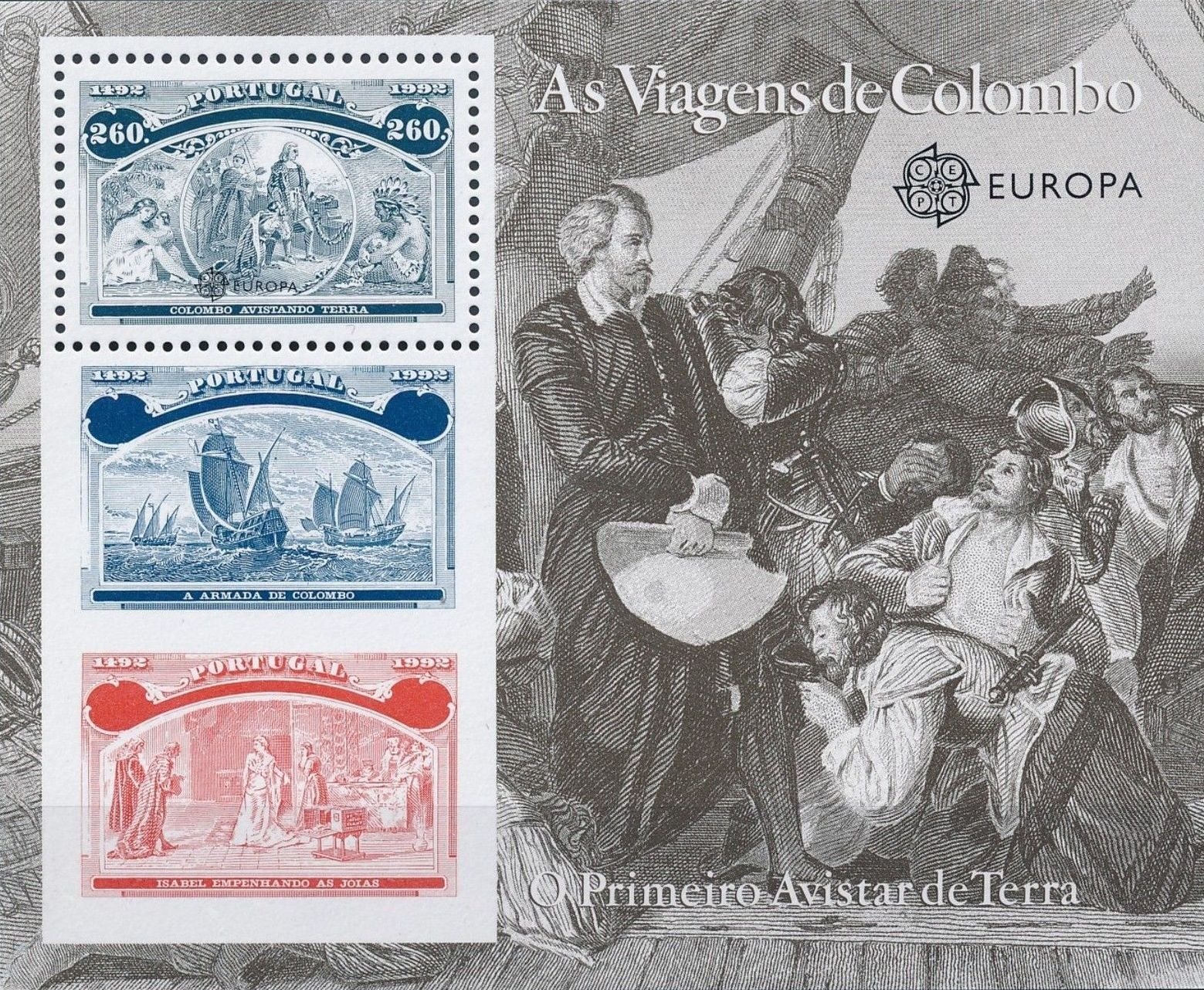 Portugal 1992 500th Anniversary of the Discovery of America SSb.jpg