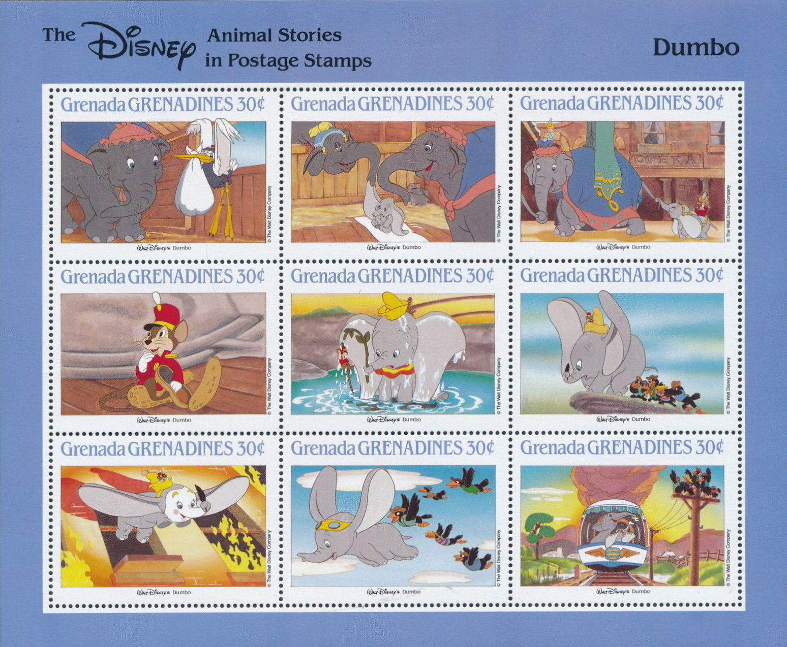 Grenada Grenadines 1988 The Disney Animal Stories in Postage Stamps SSd.jpg