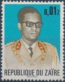 Zaire 1973 President Joseph Desiré Mobutu