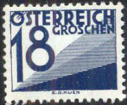 Austria 1934 Postage Due Stamps (Digit and Triangles) 6th Issue