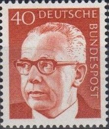 Germany, Federal Republic 1971 President Gustav Heinemann (4th Group)