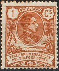 Spanish Guinea 1909 Alfonso XIII
