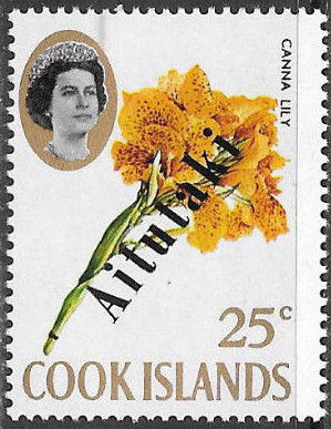 Aitutaki 1972 Flowers from Cook Islands Overprinted AITUTAKI h.jpg