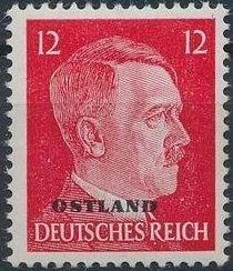 German Occupation-Russia Ostland 1943 Stamps of German Reich Overprinted in Black b.jpg