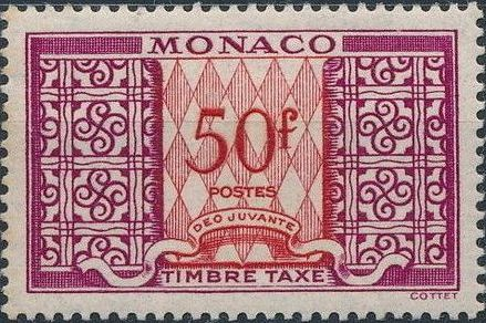 Monaco 1950 Postage Due Stamps a.jpg