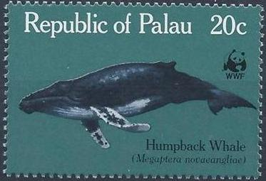 Palau 1983 WWF Whales