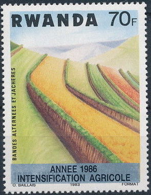 Rwanda 1986 Soil Erosion Prevention (Surcharged and Overprinted) i.jpg