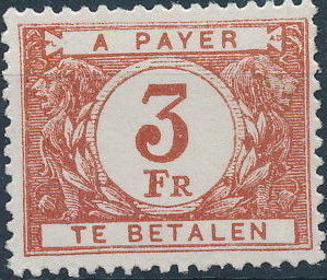 Belgium 1946 Postage Due Stamps (Digit on White Background)