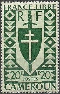 Cameroon 1941 Lorraine Cross and Joan of Arc Shield n.jpg
