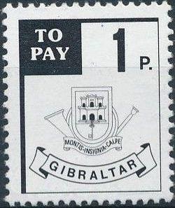 Gibraltar 1984 Postage Due Stamps
