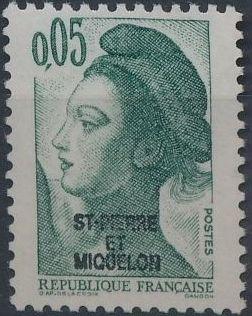 St Pierre et Miquelon 1986 Liberty from France Overprinted ST-PIERRE ET MIQUELON