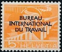 Switzerland 1950 Landscapes and Technology Official Stamps for The International Labor Bureau