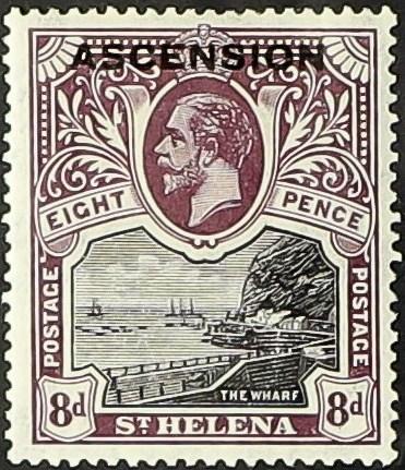 """Ascension 1922 Stamps of St. Helena Overprinted """"ASCENSION"""" f.jpg"""