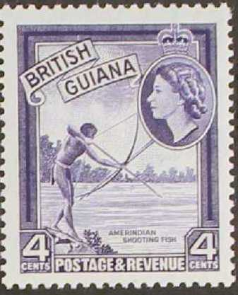 British Guiana 1954 Elizabeth II and Local Scenes d.jpg