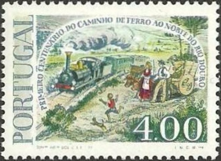 Portugal 1977 Centenary of Railway Bridge over River Douro