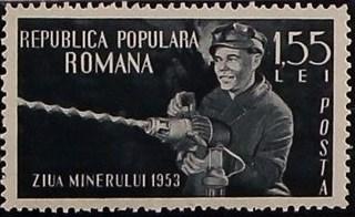 Romania 1953 Miners' Day