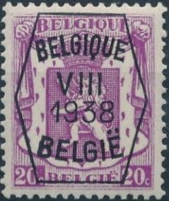 Belgium 1938 Coat of Arms - Precancel (8th Group) b.jpg