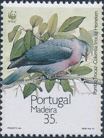 Madeira 1991 WWF Trocaz Pigeon