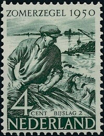 Netherlands 1950 Surtax for Social and Cultural Works b.jpg