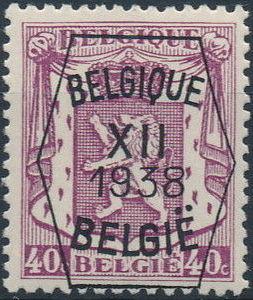 Belgium 1938 Coat of Arms - Precancel (12th Group) e.jpg