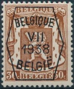 Belgium 1938 Coat of Arms - Precancel (7th Group) d.jpg