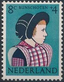 Netherlands 1960 Surtax for Child Welfare - Regional Costumes c.jpg