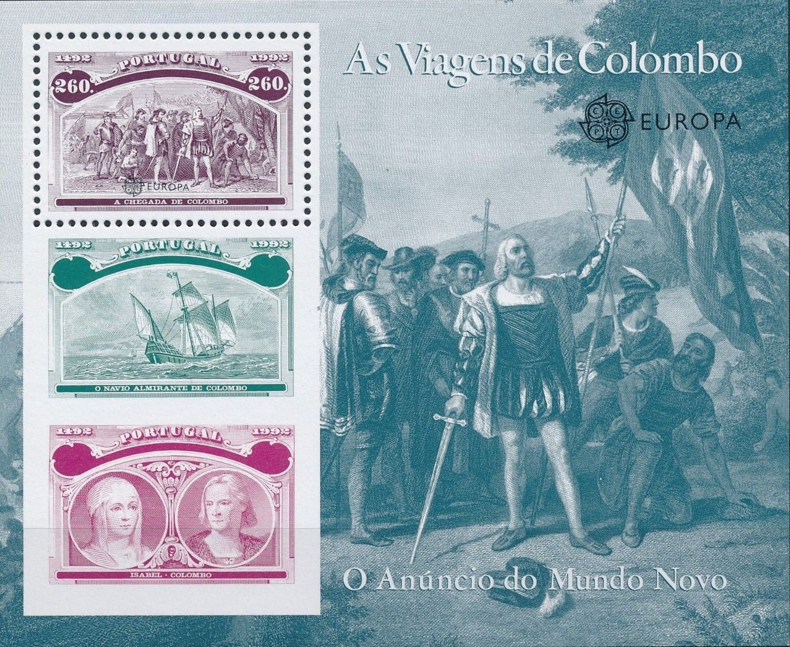 Portugal 1992 500th Anniversary of the Discovery of America SSc.jpg