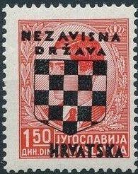 Croatia 1941 Peter II of Yugoslavia Overprinted in Black d.jpg