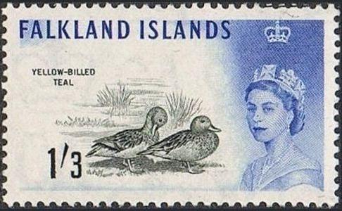 Falkland Islands 1960 Queen Elizabeth II and Birds k.jpg