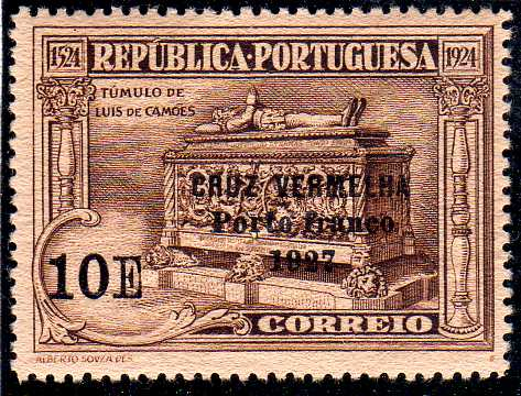 Portugal 1927 Red Cross - 400th Birth Anniversary of Camões f.jpg